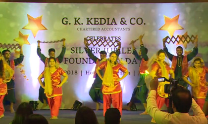 Punjabi Group Dance Performance done by G K Kedia & Co. Staff on 25th Foundation Day.